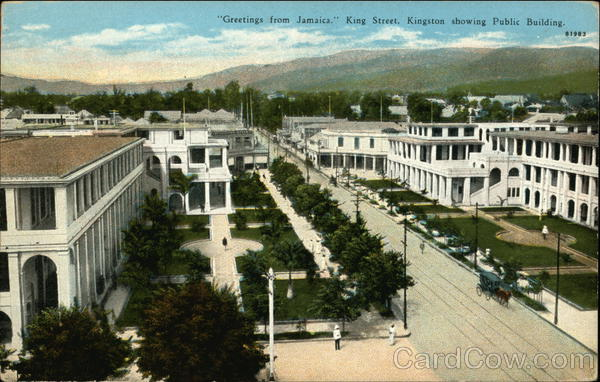King Street showing Public Building Kingston Jamaica