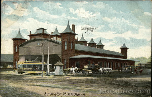 R. R. Station Burlington Vermont