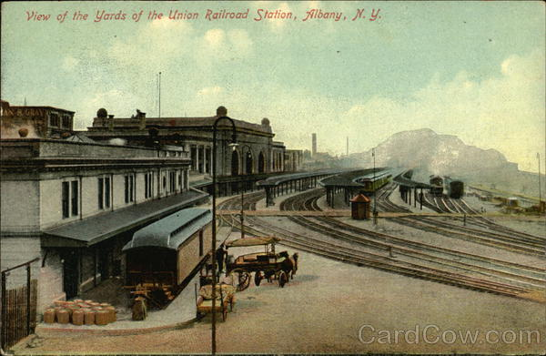 Union Railroad Station Yards Albany New York Depots