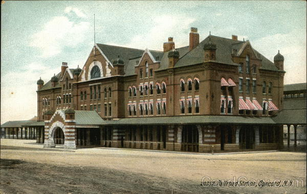 Railroad Station Concord New Hampshire Depots
