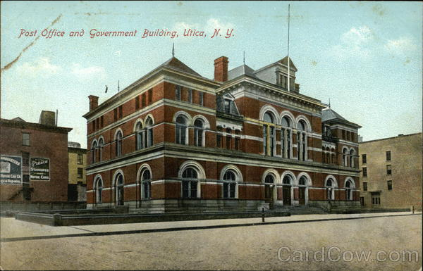 Post Office and Government Building Utica New York