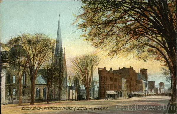 Balliol School, Westminster Church & Genesee Street Utica New York