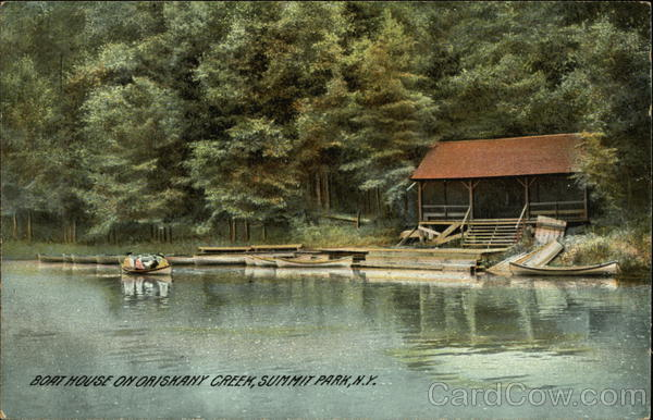 Boat House on Oriskany Creek Summit Park New York