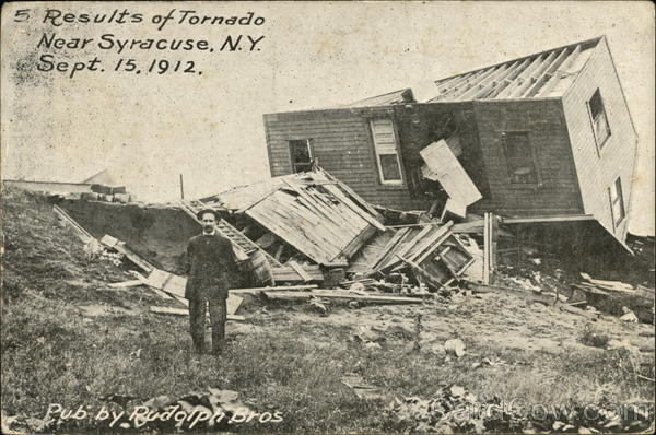 Results of Tornado - Sept 15, 1912 Syracuse New York
