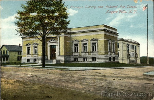 Carnegie Library and Ashland Avenue School Niagara Falls New York