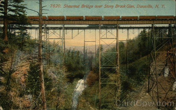 Shawmut Bridge Over Stony Brook Glen Dansville Ny