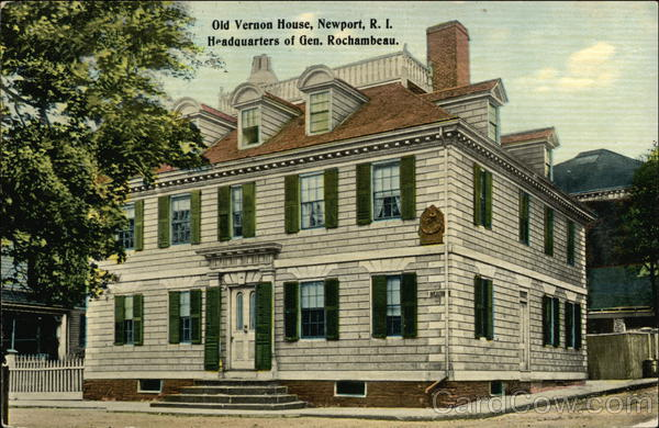 Old Vernon House, Headquarters of General Rochambeau Newport Rhode Island