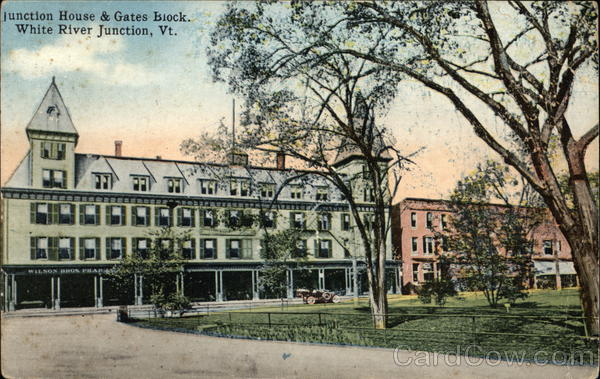 Junction House and Gates Block White River Junction Vermont