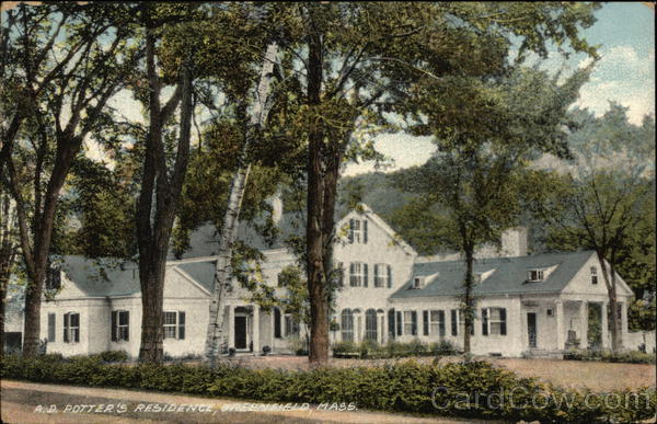 A. D. Potter's Residence Greenfield Massachusetts