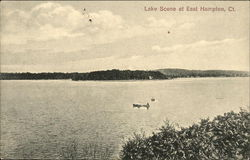 Lake Scene with Boat on the Water