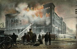 Destruction of City Hall by Fire Jan 24, 1908