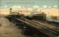 Railroad Station Showing Train