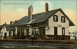 Passenger Station and RR Track Postcard
