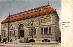 Street View of Memorial Hall Postcard