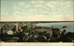 Bird's Eye View of City and Seneca Lake