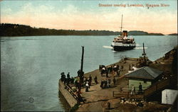 Steamer Nearing Lewiston, Niagara River Postcard