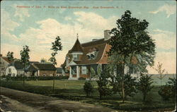 Residence of Geo. F. Butts on East Greenwich Bay