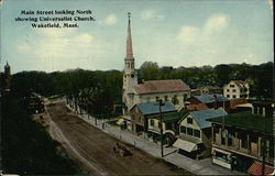 Main Street Looking North, showing Universalist Church