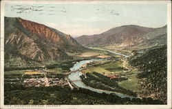 View of Glenwood Springs From Above Postcard