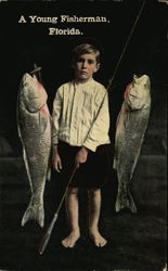 A young fisherman