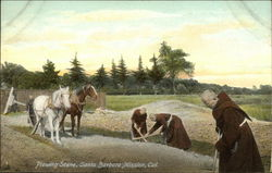 Plowing Scene, Santa Barbara Mission