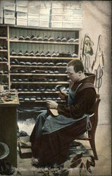 The Shoemaker Monk, Santa Barbara Mission