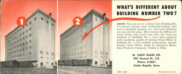 What's Different About Building Number Two? Cedar Rapids Iowa