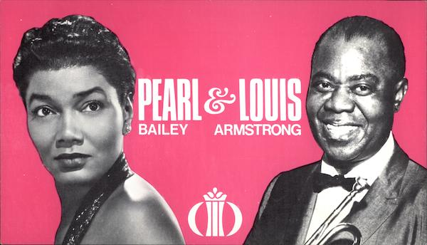 International Hotel, Pearl Bailey & Louis Armstrong Las Vegas Nevada