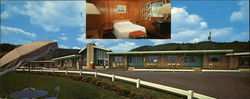 Warren Motel Large Format Postcard