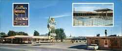 Golden W Motel Large Format Postcard