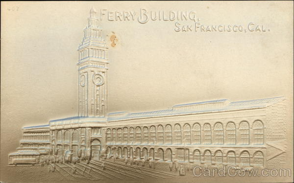 Embossed Image of Ferry Building San Francisco California