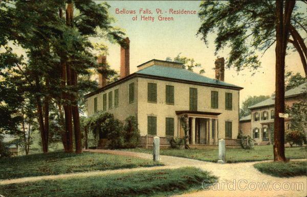 Residence of Hetty Green Bellows Falls Vermont
