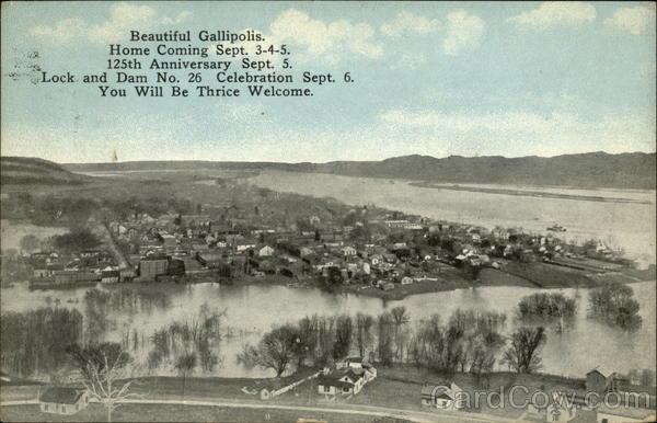 Beautiful Gallipolis, Home Coming Sept. 3-4-5, 125th Anniversary Sept. 5 Ohio