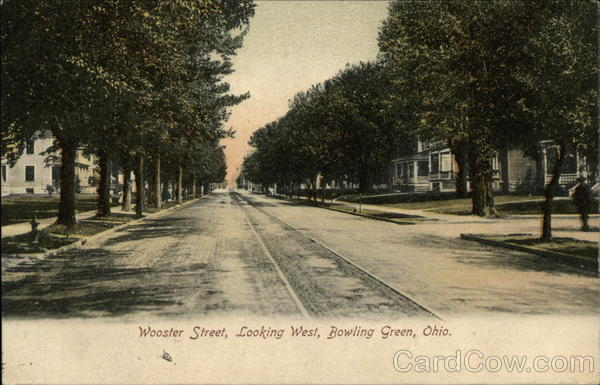 Wooster Street, Looking West Bowling Green Ohio