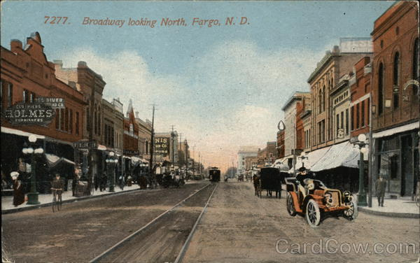 Broadway Looking North Fargo North Dakota