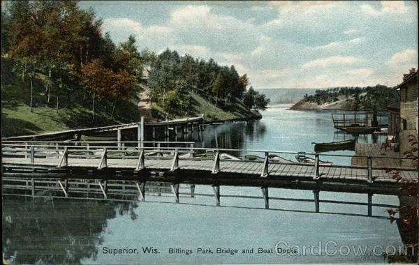 Billings Park, bridge and boat docks Superior Wisconsin