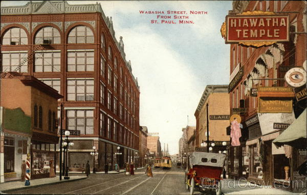 Wabash Street North from Sixth St. Paul Minnesota