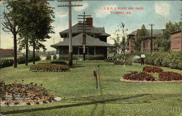 L.S. & M.S. Depot and Park Elkhart Indiana