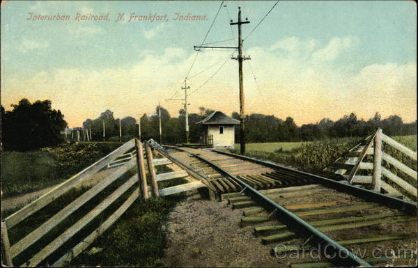 Interurban Railroad N. Frankfort Indiana