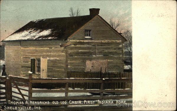 Thomas a hendricks old log cabin first indiana home for Hendricks house