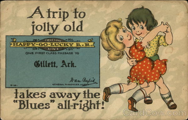 A Trip to Jolly Old Gillett, Ark. Takes Away the Blues All-Right! Arkansas