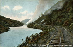 On the C. and O. Ry. and Greenbrier River, Looking East