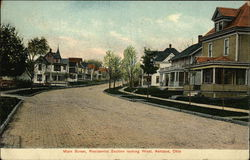 Main Street Looking West Postcard