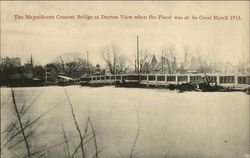 The magnificent Cement Bridge at Dayton view when the flood was at its crest, March 1913