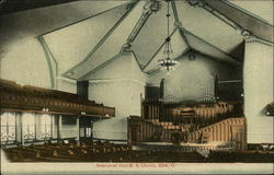 Interior of First M. E. Church