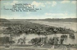 Beautiful Gallipolis, Home Coming Sept. 3-4-5, 125th Anniversary Sept. 5 Postcard