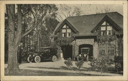 Photo of a carriage house garage