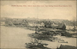 Where Many Lives Were Lost During Great Flood March 1913