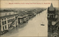 Main St. south from 5th St. during Great Flood, March 1913