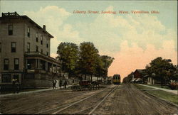 Liberty Street Looking West Postcard